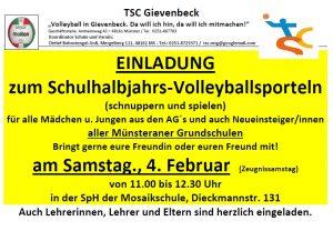 Einladung Volleyballsporteln