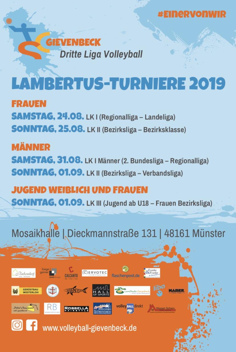 Flyer Lambertusturnier 2019